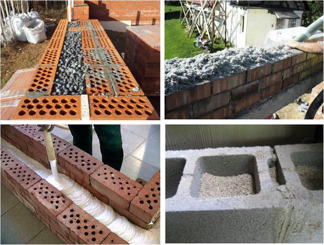 Options for filling ( filling ) insulation in cavity wall construction