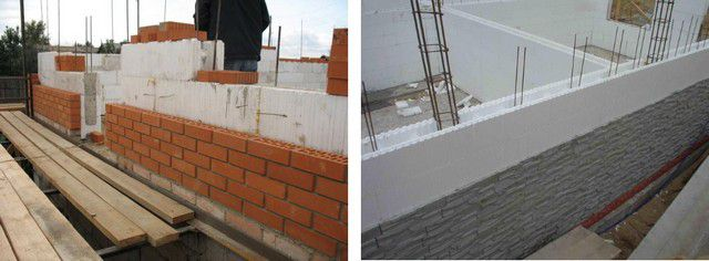 Walling on permanent formwork technology