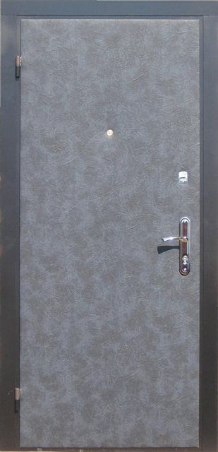 Metal door and often requires insulation and decoration