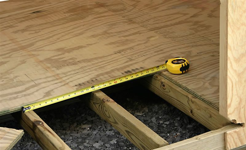 Installation on flooring joists