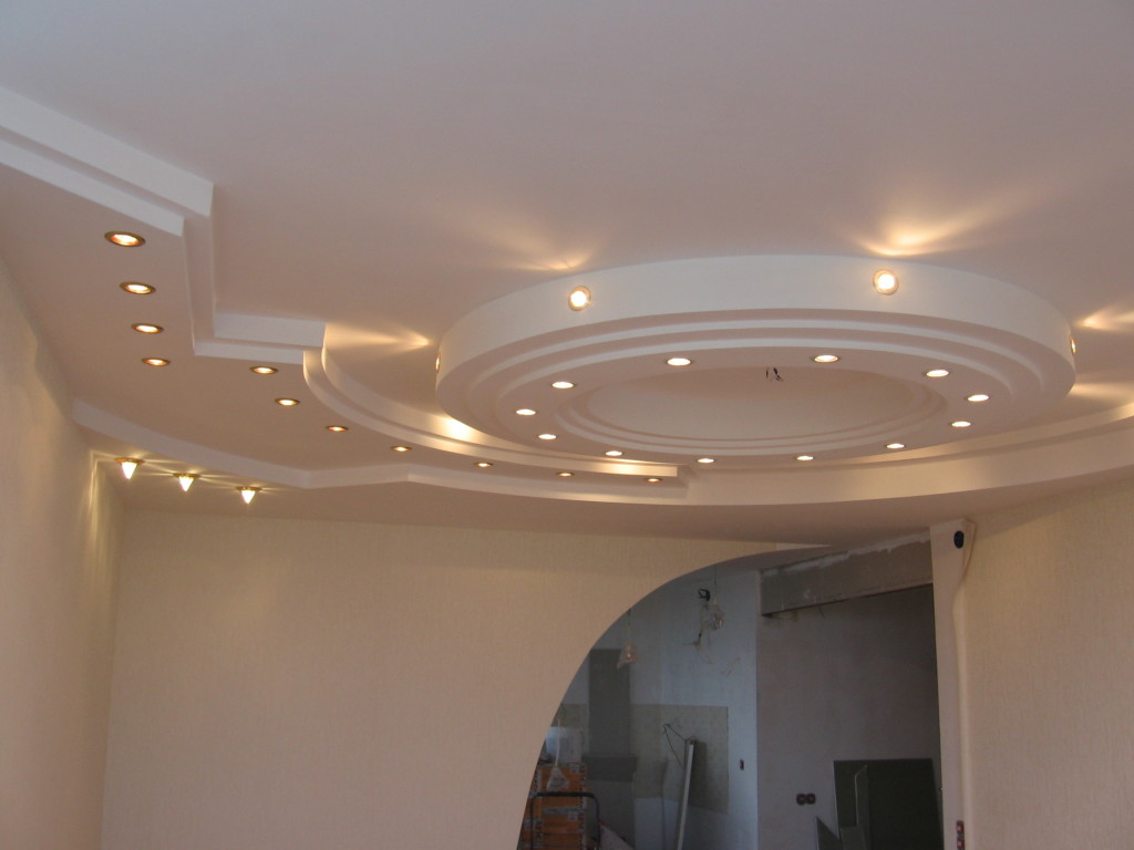 Ceilings of plasterboard