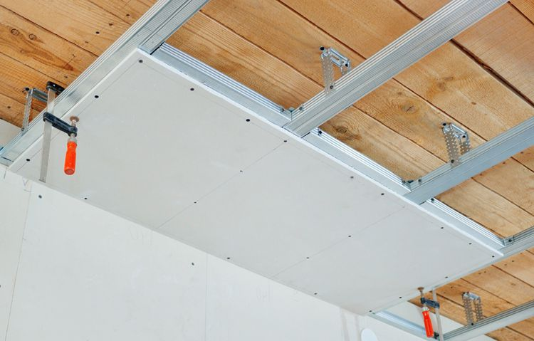 Fastening of sheets of drywall to the frame