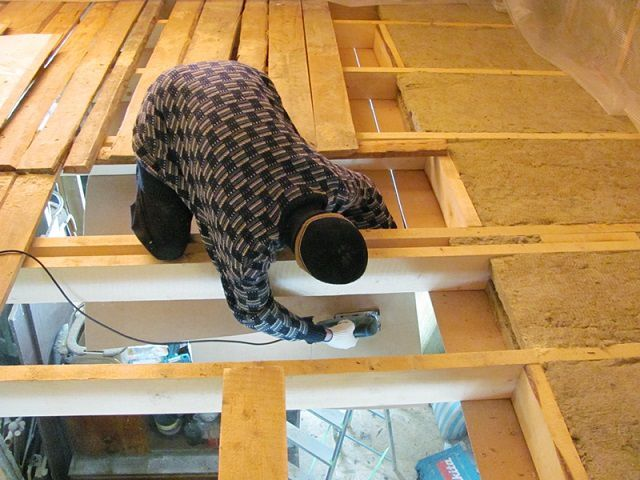 Work on the part of the attic might require the utmost caution and acrobatic dexterity