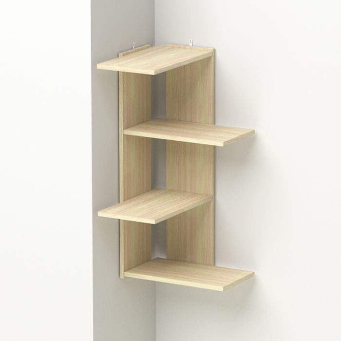 Corner shelf made ​​of wood