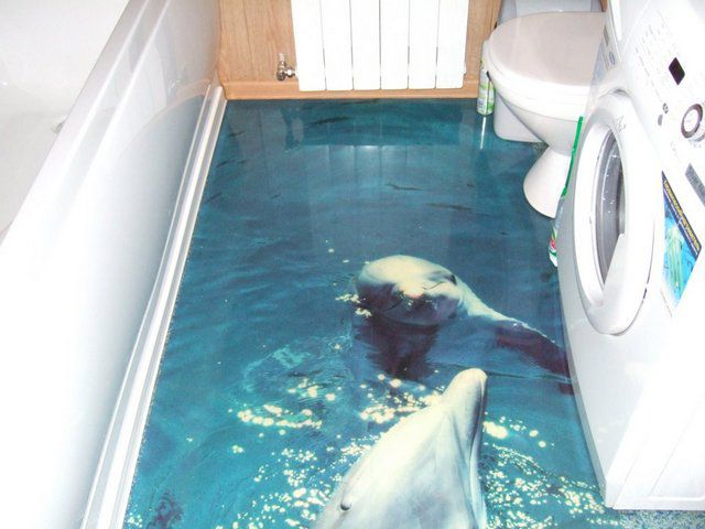 These dolphins are appropriate , perhaps, only in the bathroom