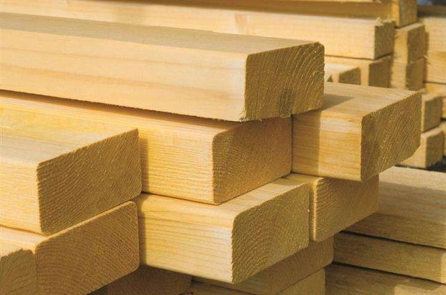 The cheapest - planed timber