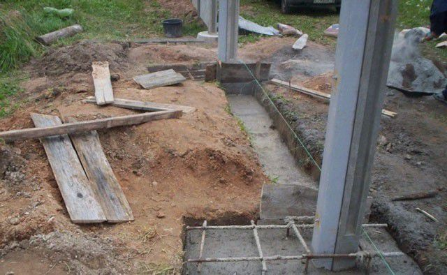 Concreting pillars for fence
