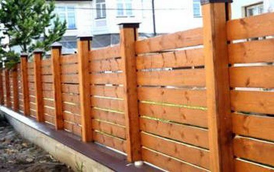 Wooden fence original form