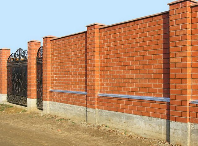 The most difficult in execution - brick fence