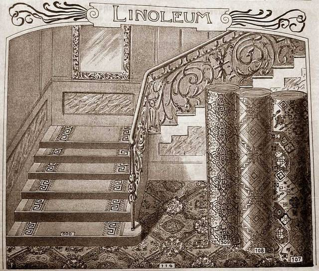 Linoleum is known to mankind since the second half of the XIX century