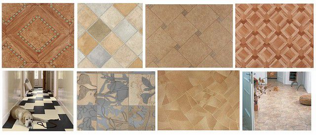 A variety of patterns and textures of PVC linoleum is impressive even sophisticated consumer