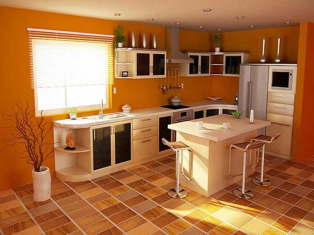 Some types of residential linoleum can be laid in kitchens