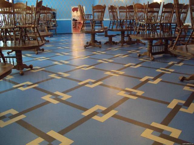 Commercial linoleum is required in areas with intense visit