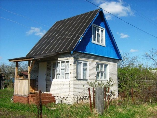 A small dacha , built of bricks