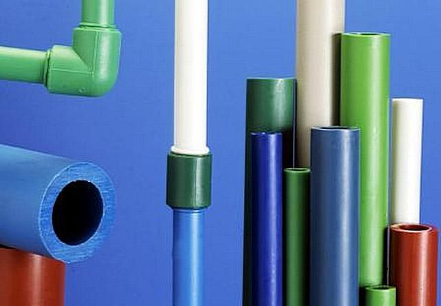 A variety of plastic pipes - very large