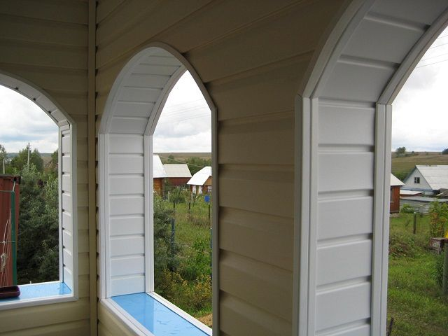 Finishing arched windows