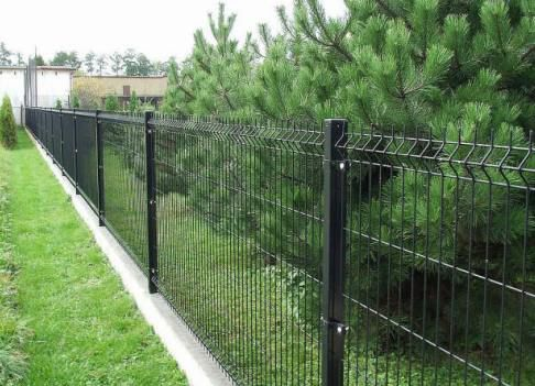 A fence made of welded mesh