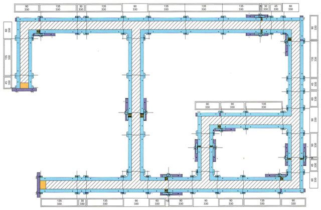 Calculation of formwork construction