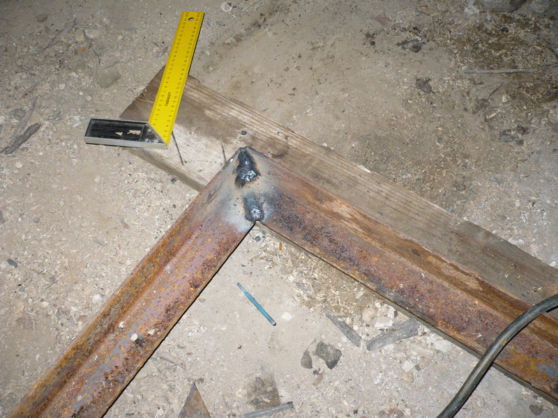 Marking and welding the frame corners