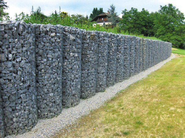 In addition, the fence gabions perfectly fit into any interior and will give everything for a great start to your yard