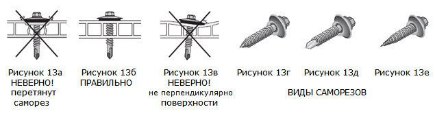 It is necessary to fix each of the bolts is strictly perpendicular to the sheet material in order to avoid forcing a different surface of the sheet