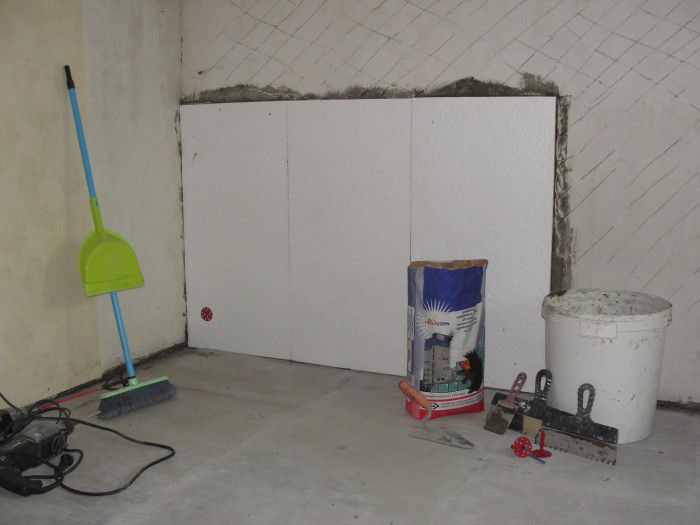 A method of insulating walls inside foam