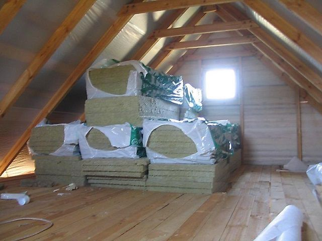Attic is always in need of particularly high-quality insulation