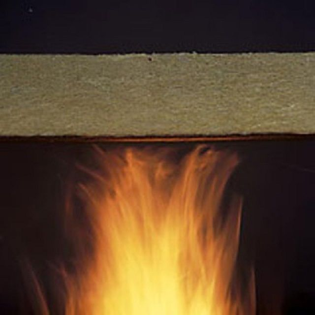 Qualitative mineral wool is almost impossible to ignite