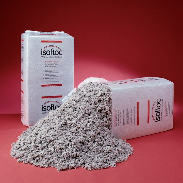 Ecowool - product of cellulose processing