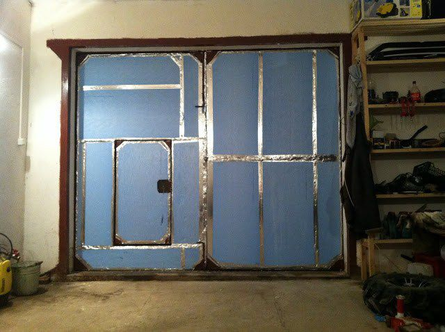How to insulate garage doors from the inside