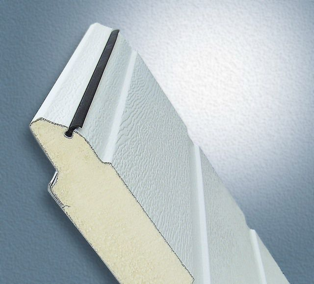 In tilt-up and sectional doors prefabricated already provides insulation from polyurethane foam