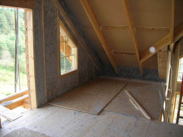 If the attic is supposed living room , insulate the roof slopes