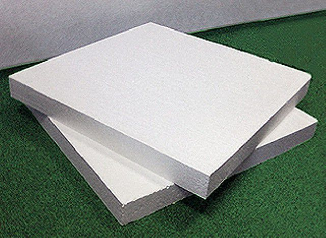 Standard panels of expanded polystyrene
