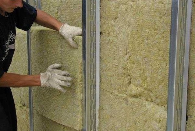 mineral wool panels can be laid in two layers
