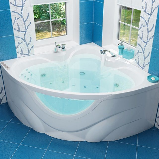 Water in an acrylic bath cools down much longer than metal