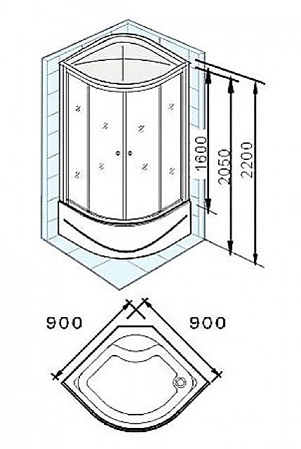 Once evaluated the ability to install the shower enclosure of a size