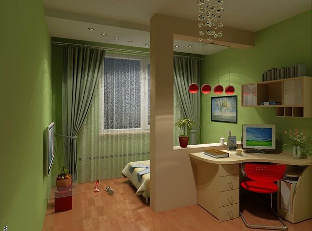 Living room and bedroom in one room