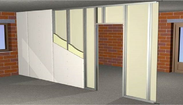 Great popularity began to use lighter frame plasterboard partitions