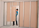 Installing drywall partitions