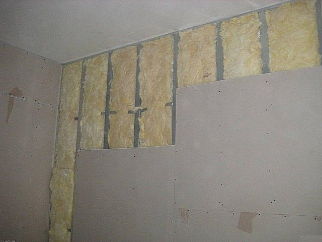 Alignment of plasterboard walls carcass method with simultaneous thermal insulation and sound insulation