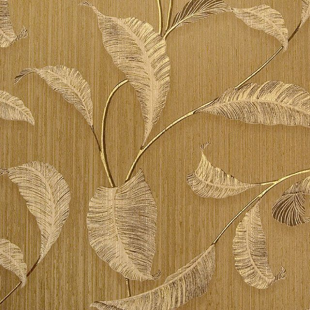 The disadvantage of natural textile wallpaper is only their high price