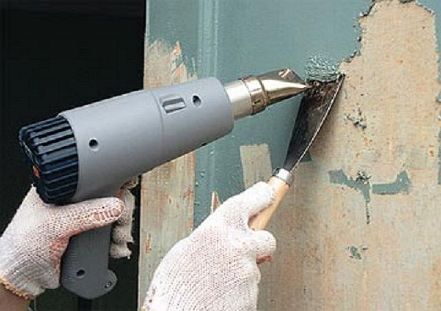 Cleaning the walls of the ink with a hair dryer ...