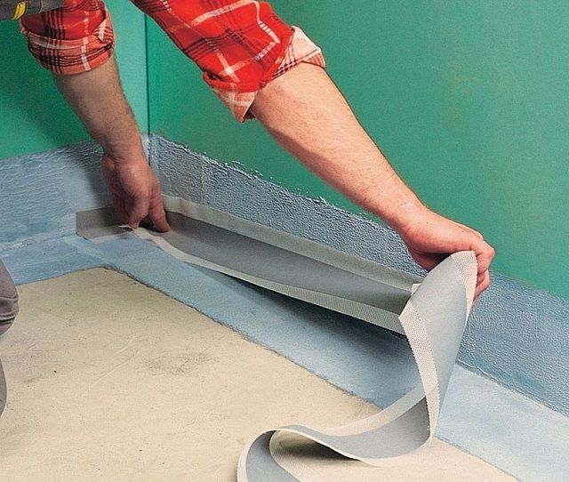 Bonding angles waterproofing tape space