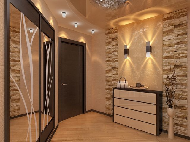 Decorating hallway with decorative stone