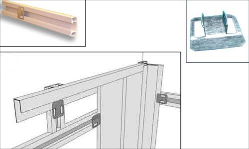 Fastening of panels with use of a plastic profile by means of special clips