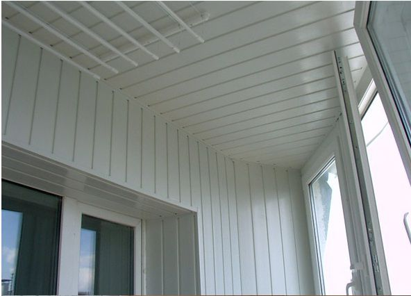 Finishing siding inside balcony
