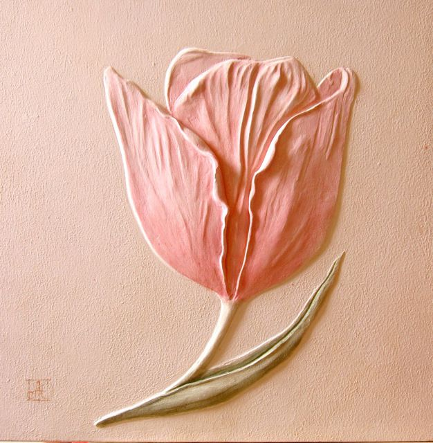 Sculptural relief Tulip