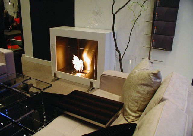 Bio-fireplace should organically fit into the interior of the premises