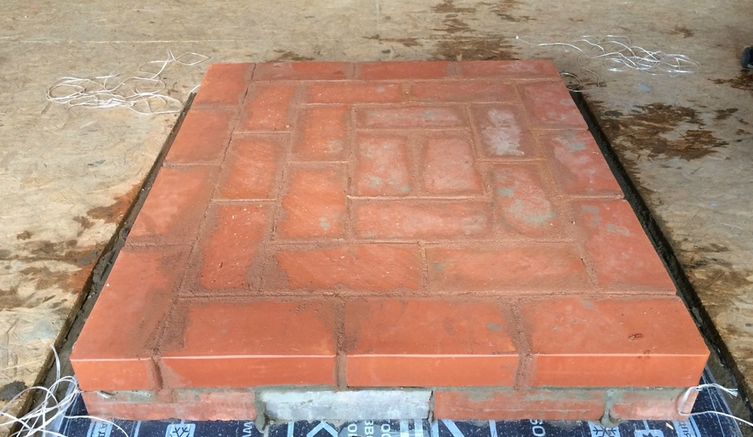Example of stacking bricks to isolation