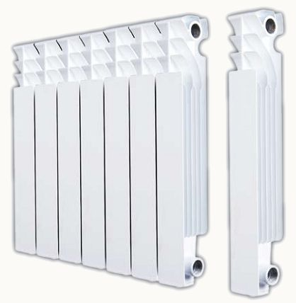 Radiator made ​​by extrusion